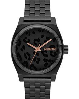 Nixon Time Teller x NATO All Black/Cheetah Men's Watch