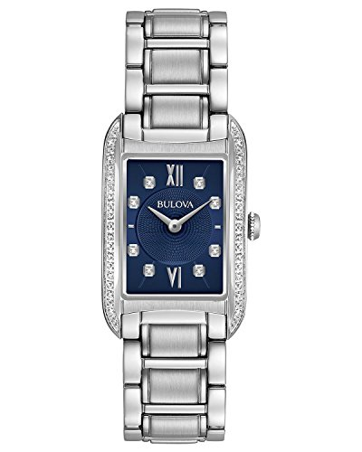 Bulova Women's Analog Quartz Stainless Steel Diamond Watch