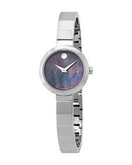Movado Novella Black Mother of Pearl Dial Ladies Watch