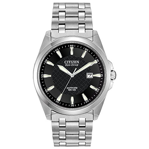 Citizen Men's Eco-Drive Stainless Steel Dress Watch with Date