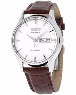 Tissot Visodate White Dial SS Leather Automatic Men's Watch