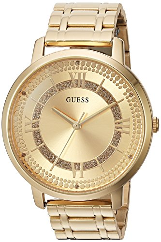 GUESS Women's Quartz Watch with Stainless-Steel Strap, Gold