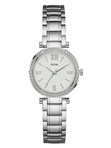GUESS Women's Stainless Steel Crystal Accented Watch