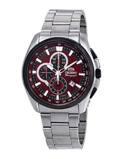 Orient Classic Chronograph Red Dial Mens Watch FTT13001H