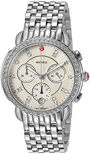 Michele Sidney One Hundred Seventeen Diamonds Swiss Chronograph Women's Watch