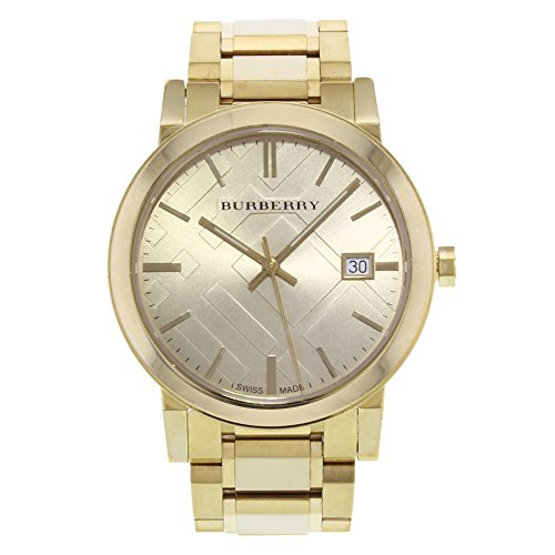 Burberry Unisex Swiss Gold Ion-Plated Stainless Steel Bracelet Watch