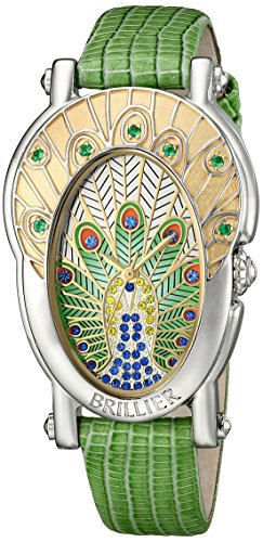 Brillier Women's Gr Royal Plume Analog Display Swiss Quartz Watch