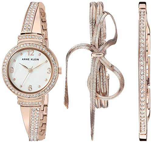 Anne Klein Women's Swarovski Crystal Accented Watch