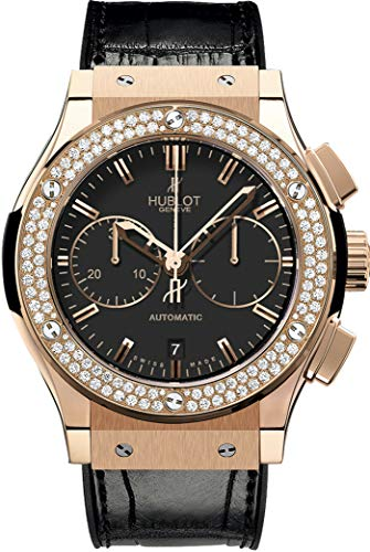 Hublot Classic Fusion Chronograph Rose Gold Diamonds Watch