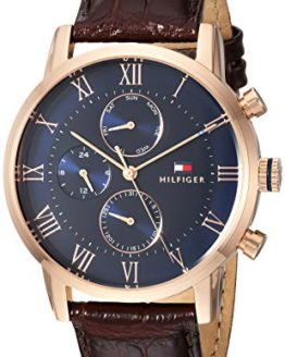 Tommy Hilfiger Men s Sophisticated Sport Quartz Gold and Leather Casual Watch