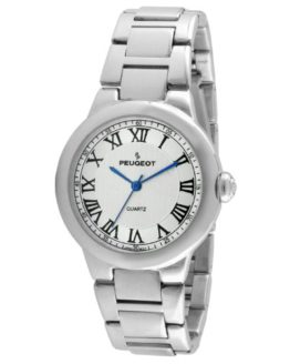 Peugeot Women's Round Silver Roman Numeral Watch