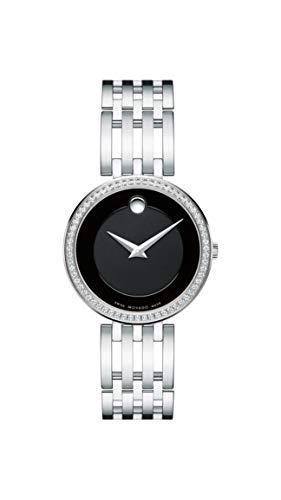 Movado Women's Esperanza Stainless Steel Watch with Diamond Accent Bezel