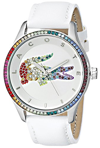 Lacoste Women's Quartz Movement Victoria Watch, White/Multi