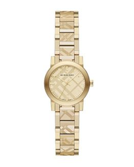 Burberry Women's Swiss Gold Ion-Plated Stainless Steel Bracelet Watch