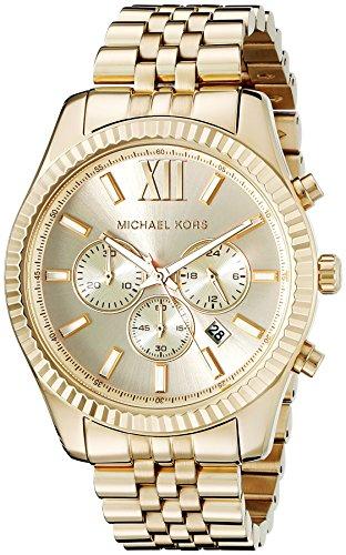 Michael Kors Lexington Gold-Tone Stainless Steel Watch MK8281