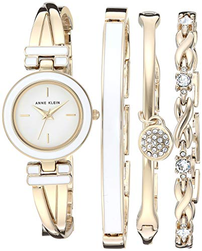 Anne Klein Women's Bangle Watch and Swarovski Crystal