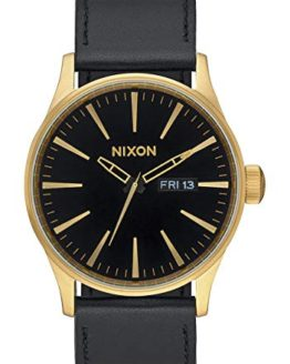 Nixon Porter Leather Modern Men's Watch (40mm. Leather Band) (Gold/Black)