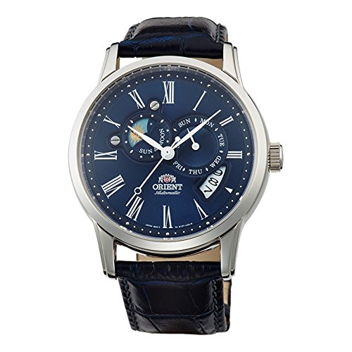 Orient Men's Classic Sun and Moon Version 2 Analog Automatic Blue Watch