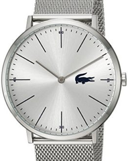 Lacoste Men's Moon Quartz Watch with Stainless-Steel Strap, Silver, 20