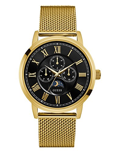 GUESS Men's Stainless Steel Mesh Bracelet Watch