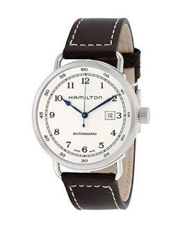 Hamilton Khaki Navy Leather Automatic Men Watch