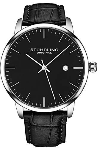 Stuhrling Original Mens Watch Calfskin Leather Strap