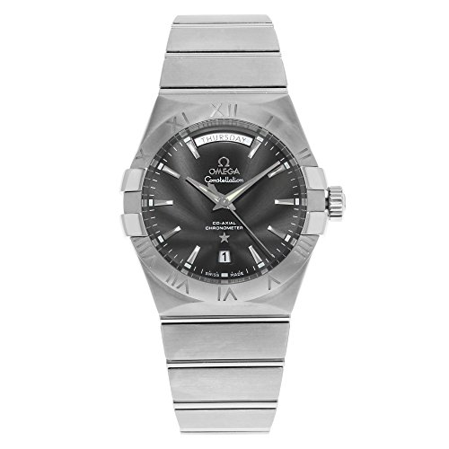 Omega Constellation Day Date Automatic Black Dial Stainless Steel Mens Watch