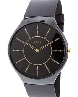 Rado Men's True R27741709 Black Rubber Swiss Quartz Dress Watch