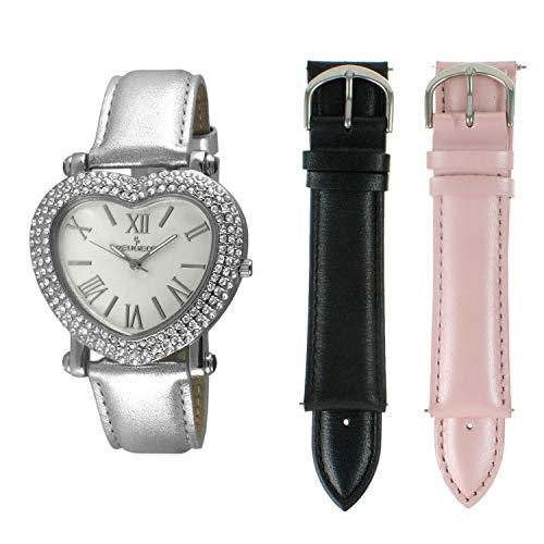 Peugeot Women's Heart Shaped Interchangeable Crystal Set Watch