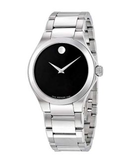 Movado Defio Black Dial Stainless Steel Men's Watch 0606333