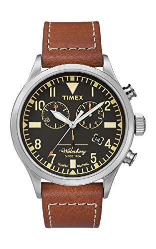 Timex Waterbury Men's Traditional Leather Strap Chronograph Watch