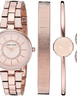 Anne Klein Women's Swarovski Crystal Accented Blush Pink Watch