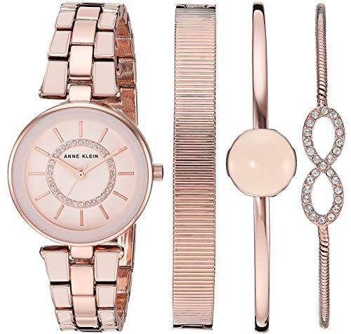 Anne Klein Women's Swarovski Crystal Accented Blush Pink Watch
