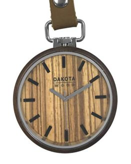 Dakota Genuine Walnut Wood Pocket Watch
