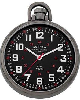 Gotham Men's Stainless Steel Pocket Watch
