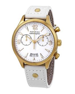 Movado Heritage Chronograph White Dial Ladies Watch