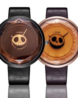 2017 SINOBI Skull Women Wrist Watches Leather Watchband