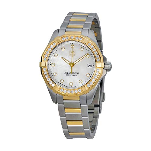 Tag Heuer Women's Aquaracer Diamond-Accented Two-Tone Watch