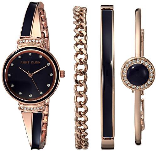 Anne Klein Women's Swarovski Crystal Accented Rose Gold-Tone Watch