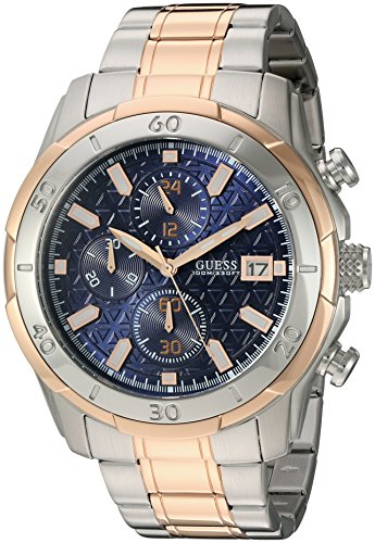 GUESS Men's Sporty Rose Gold-Tone Stainless Steel Watch