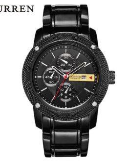 Curren 8069 Luxury Sport Quartz Men Wrist Watch Analog Round Wristwatch