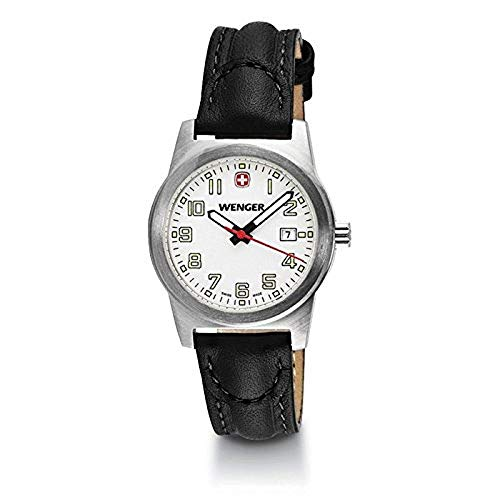 Wenger Field Classic White Dial Leather Strap Ladies Watch