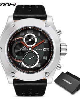 SINOBI Watches Men Brand Men Sport Watches Men's Quartz Clock Man