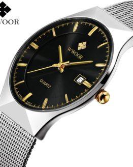 New Men Watches Top Brand Luxury 50m Waterproof Ultra Thin Date Watch