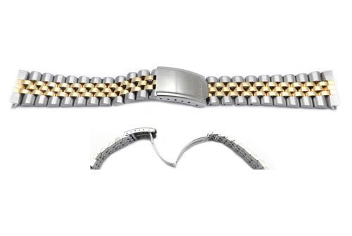 Seiko Dual Tone Jubilee Style 20mm Watch Band