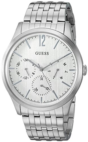GUESS Men's Stainless Steel Casual Watch with Day, Date