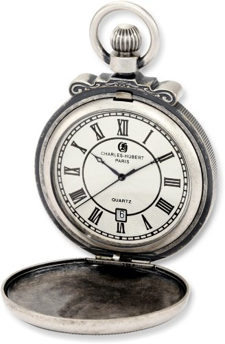 Charles-Hubert, Paris Classic Collection Antiqued Pocket Watch