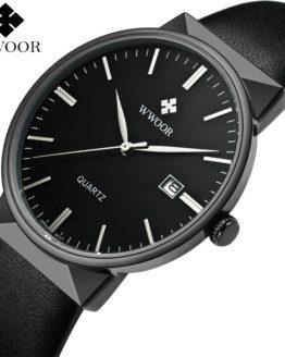 Top Brand Luxury Men Leather Waterproof Sports Watches