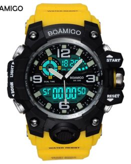 BOAMIGO Brand Men Sports Watches LED Digital Analog Wrist Watch