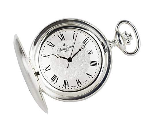 Pierre Laurent Swiss Made Solid Sterling Silver Quartz Pocket Watch